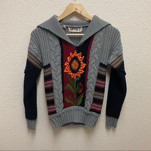 Vintage Vickie Volts Collared Sweater
